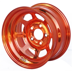 Aero 52-984740ORG 52 Series 15x8 Wheel, 5 on 4-3/4 BP, 4 Inch BS IMCA