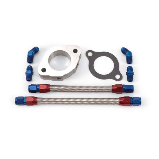 Edelbrock 8095 Engine Coolant Bypass Hose, Cast Aluminum, Kit