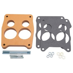Edelbrock 8726 4- Barrel Carburetor Spacer, Wood, 0.750 Inch