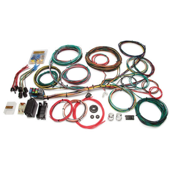 painless wiring direct fit wiring harnesses shipping painless 10123 1966 1976 ford muscle car 21 circuit wiring harness