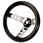 Speedway Classic 9-3/4 Inch Black Steering Wheel w/ Holes