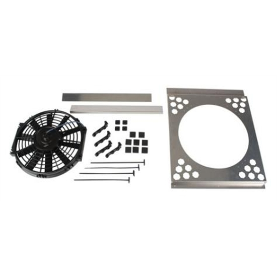 Electric Fan Shroud w/ One Fan, 15-18 Inch Tank-to-Tank x 17-20 Inch