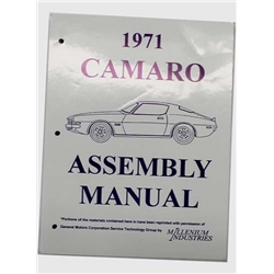 Jim Osborn 1971 Camaro Assembly Manual