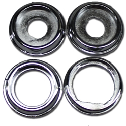 OER K150 Reproduction 4-Piece Dash Knob Bezel Set, 1967 Camaro