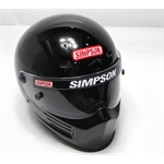 Garage Sale - Simpson Super Bandit SA2010 Racing Helmet, Black, Size 7-1/4