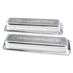 Finned 1987-98 Small Block Chevrolet Centerbolt Valve Covers, Polished