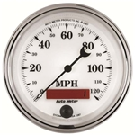 Auto Meter 1287 Old-Tyme White II Air-Core Speedometer Gauge