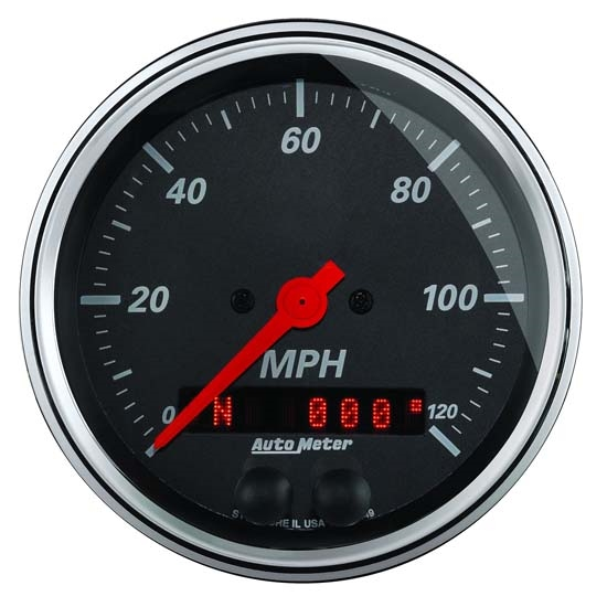 Auto Meter 1449 Designer Black Air-Core GPS Speedometer Gauge