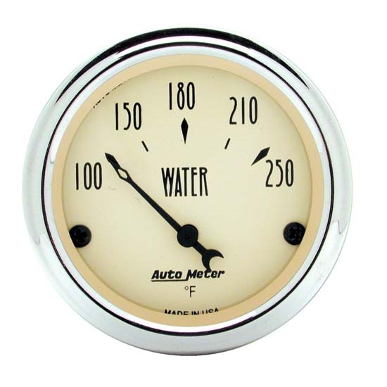 Auto Meter 1837 Antique Beige Air-Core Water Temperature Gauge