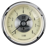 Auto Meter 2097 Prestige Antique Ivory Air-Core In-Dash Tachometer
