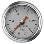 Auto Meter 2178 Auto Gage Mechanical Pressure Gauge, 1-1/2 Inch, 0-15