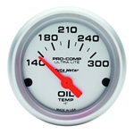Auto Meter 4348 Ultra-Lite Air-Core Oil Temperature Gauge, 2-1/16 Inch
