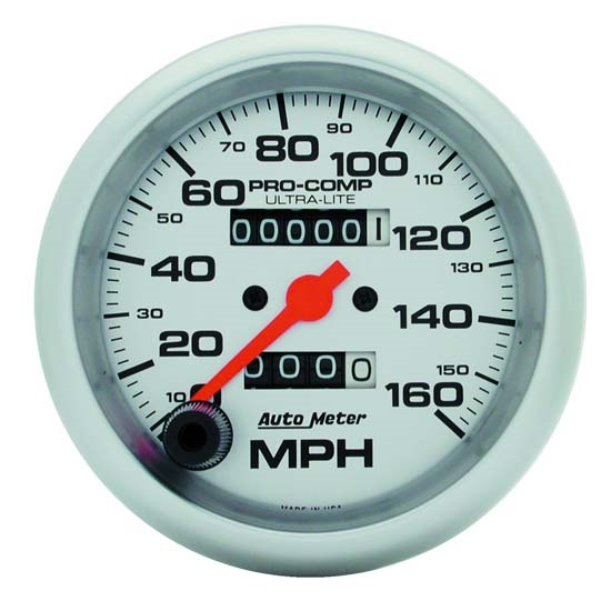 Auto Meter 4493 Ultra-Lite Mechanical Speedometer, 120 MPH, 3-3/8 Inch