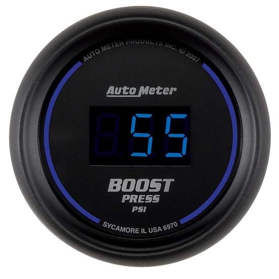 auto meter 6970 cobalt digital boost gauge  2 16 inch