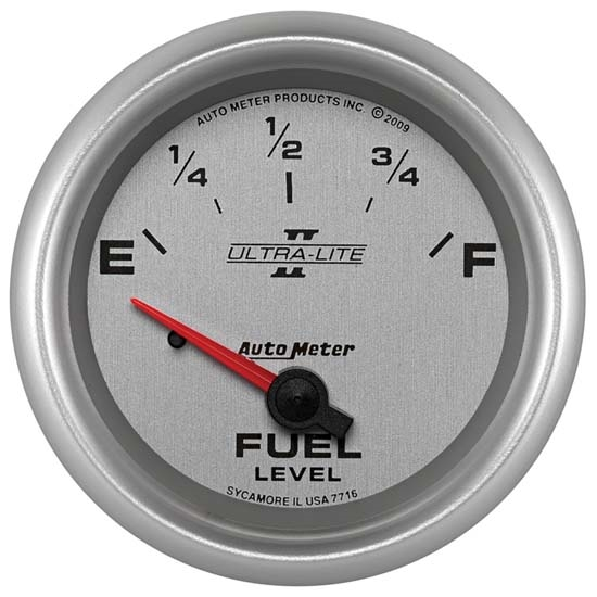 Auto Meter 7716 Ultra-Lite II Air-Core Fuel Level Gauge, 2-5/8 Inch