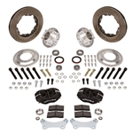 Wilwood Disc Brake Kit for 1949-54 Chevy Spindles, 4-Piston, Vented Rotor