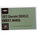 Dave Graham 72CAM 1972 Chevelle Owners Manual
