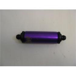 Garage Sale - Purple 6 Inch Aluminum Fuel Filter, AN-12 Ends
