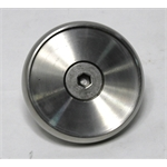 Garage Sale - Brake Pedal Pad, Round, Stainless Steel