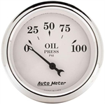 Auto Meter 1628 Old-Tyme White Air-Core Electric Oil Pressure Gauge