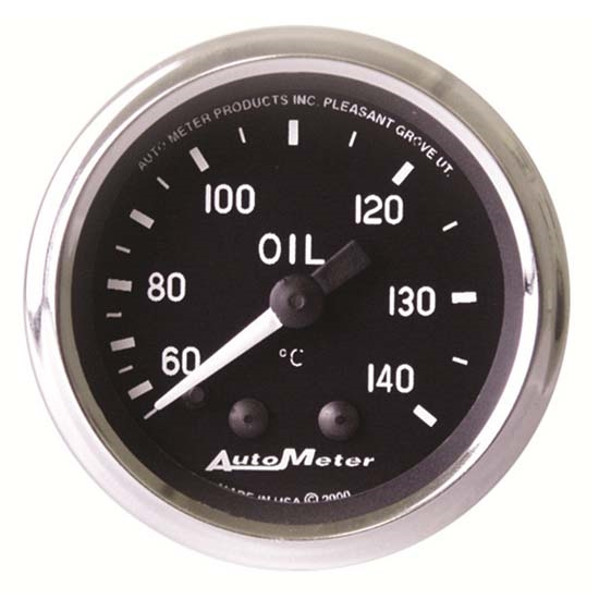 Auto Meter 201008 Cobra Mechanical Oil Temperature Gauge, 2-1/16 Inch