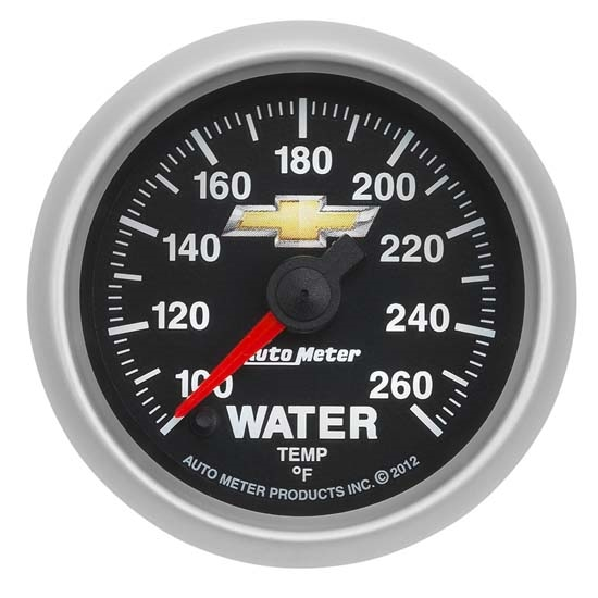 Auto Meter 880446 GM COPO Camaro Water Temperature Gauge, 2-1/16 Inch