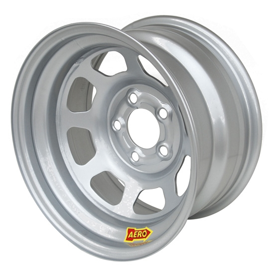 Aero 52-084740W 52 Series 15x8 Wheel, 5 on 4-3/4 BP, 4 Inch BS Wissota