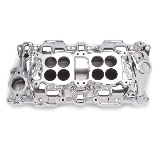 Edelbrock 54254 C-26 Dual-Quad Intake Manifold, Small