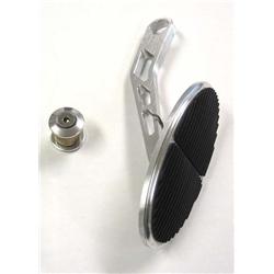 Lokar DBW-6105 Drive-by-Wire XL Oval Billet Throttle Pedal w/Rubber