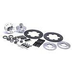 Wilwood Disc Brake Kit for 1949-54 Chevy Spindles, 4-Piston, Steel Rotor