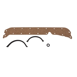 SuperSeal Small Block Chevy Oil Pan Gaskets, Thin Seal, Left Side Dipstick