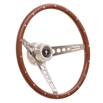 GT Performance 35-5457 GT3 Retro Wood Mustang Style Steering Wheel