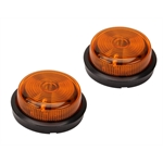 EMPI 9414 Cal-Look Amber Turn Signals, 2-1/2 Inch Diameter, Pair