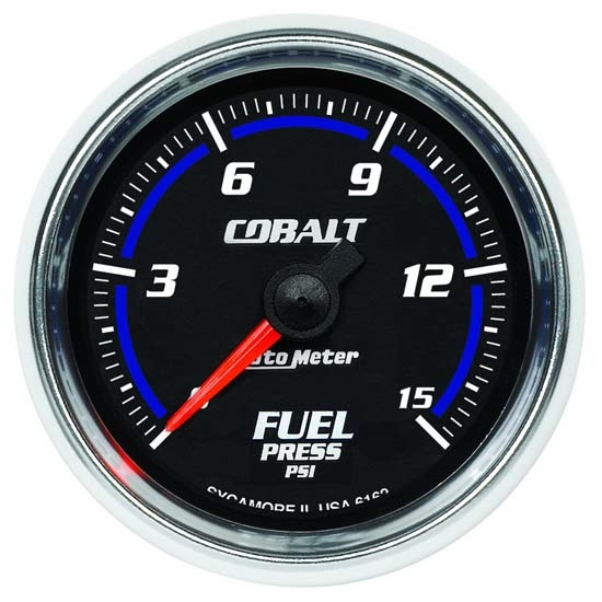 Auto Meter 6162 Cobalt Digital Stepper Motor Fuel Pressure Gauge