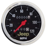Auto Meter 880245 Jeep Mechanical Speedometer Gauge, 3-3/8 Inch