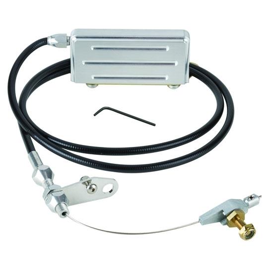 Lokar Kdp-2400u Polished Black Th-400 Electric Kickdown Cable Kit