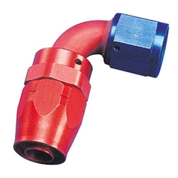 Aeroquip FBM4035 Hose End Coupler Fitting, 90 Degree, Blue/Red, -12 AN