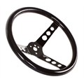 Speedway Classic 13 Inch Black Steering Wheel w/ Holes