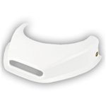 Dominator White Hood Scoop with Hole