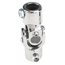 Sweet Mfg Chrome Steering U-Joint, 1 Inch-48 Spline to 1 Inch DD, GM Column