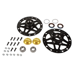 Garage Sale - Winters Performance 3980 Black Aluminum D-Mount Front Hubs