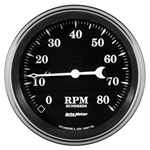 "Auto Meter 1790 Old Tyme Black, 3-3/8"" Tachometer, In-Dash"