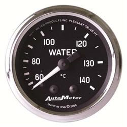 Auto Meter 201007 Cobra Mechanical Water Temperature Gauge, 2-1/16 In.