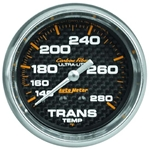 Auto Meter 4851 Carbon Fiber Mechanical Transmission Temperature Gauge