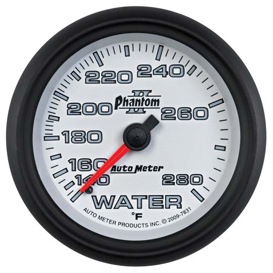 Auto Meter 7831 Phantom II Mechanical Water Temp Gauge, 2-5/8 Inch
