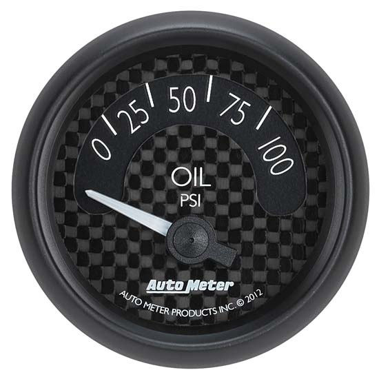 Auto Meter 8027 GT Air-Core Oil Pressure Gauge, 2-1/16 Inch, 100 PSI