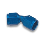 Earls 939206ERL Blue 45 Degree -6 AN Female to Female Swivel Adapter