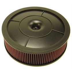 K&N 61-4020 Flow Control Filter Assembly, 14 x 4.0, Holley 390-800 CFM