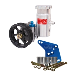 KRC Ford 351W Aluminum Power Steering Pump Kit, 4.2 Serpentine Pulley