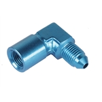 Fragola 495022 Pressure Gauge Fitting, 1/8 Female to -3 AN Male 90°